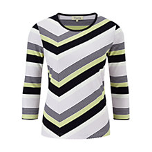 Buy Viyella Petite Multi Stripe Jersey Top, Pistachio Online at johnlewis.com