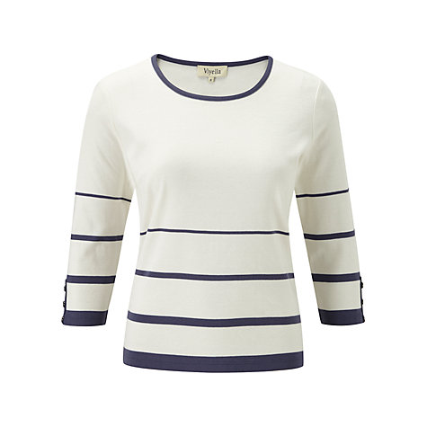 Buy Viyella Petite Striped Top Online at johnlewis.com