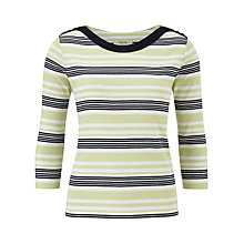 Buy Viyella Petite Multi-Stripe Top, Pistachio Online at johnlewis.com