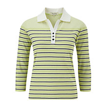 Buy Viyella Petite Striped Polo Top, Pistachio Online at johnlewis.com