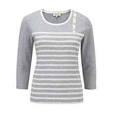 Buy Viyella Stripe Top, Silver/Ivory Online at johnlewis.com