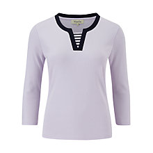 Buy Viyella Petite Stripe Insert Top, Wisteria Online at johnlewis.com