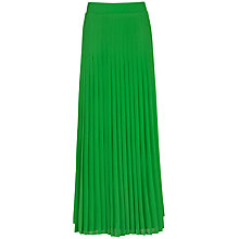 Buy Ted Baker Miquaj Pleated Maxi Skirt, Green Online at johnlewis.com