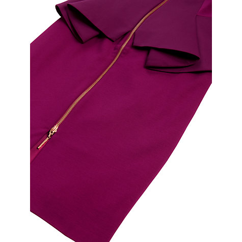 Buy Ted Baker Jamthun Zip Dress, Fuchsia Online at johnlewis.com