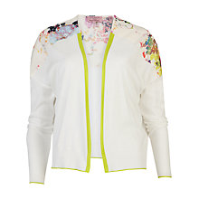 Buy Ted Baker Siran Summer Bloom Cardigan, Cream Online at johnlewis.com