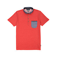 Buy Ted Baker Gudbora Woven Collar Polo Shirt Online at johnlewis.com