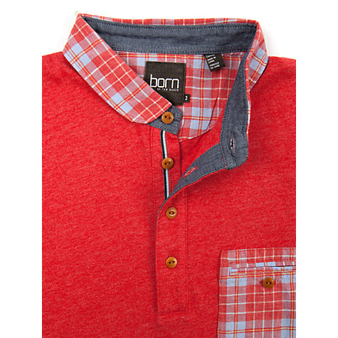 Buy Ted Baker Born Midpint Check Collar Polo Shirt Online at johnlewis.com