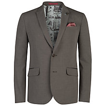 Buy Ted Baker Ceddjak Cotton Single Breast Blazer, Grey Online at johnlewis.com