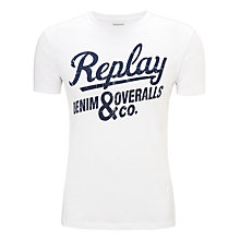 Buy Replay Denim & Overalls Co. Logo T-Shirt Online at johnlewis.com