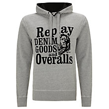 Buy Replay Denim Goods and Overalls Hoodie Online at johnlewis.com