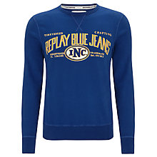 Buy Replay Logo Crew Neck Jumper Online at johnlewis.com