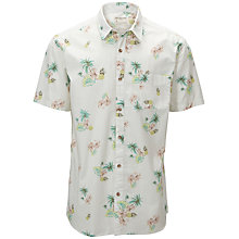 Buy Selected Homme Surf Print Short Sleeve Shirt Online at johnlewis.com