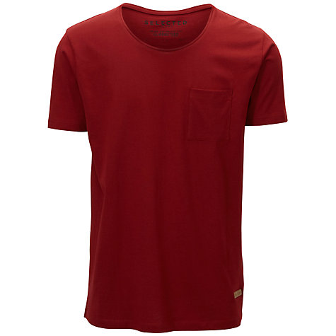 Buy Selected Homme Dave Crew Neck Pocket T-Shirt Online at johnlewis.com