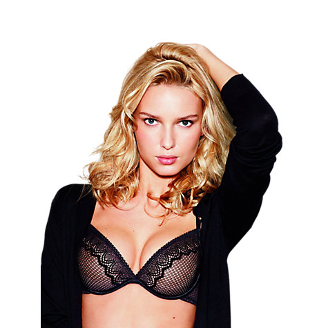 Buy Wonderbra Natural Lift Sexy Plunge Bra, Black Online at johnlewis.com