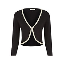 Buy Precis Petite Contrast Trim Shrug, Black Online at johnlewis.com