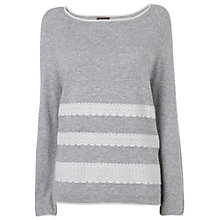 Buy Phase Eight Melody Lace Panel Jumper, Grey Online at johnlewis.com