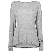 Buy Phase Eight Made In Italy Capua Stripe Jersey Top, Grey/White Online at johnlewis.com