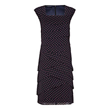 Buy Windsmoor Mini Spot Layered Dress, Navy Online at johnlewis.com