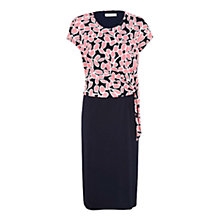 Buy Windsmoor Petal Jersey Dress, Pink/Navy Online at johnlewis.com