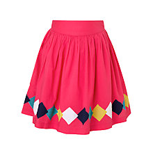 Buy John Lewis Girl Lozenges Skirt, Pink Online at johnlewis.com