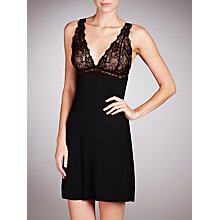 Buy John Lewis Lace Full Slip, Black Online at johnlewis.com