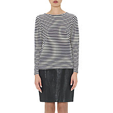 Buy Whistles Edie Striped Double Faced Sweatshirt, Cream Online at johnlewis.com