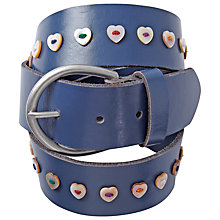 Buy White Stuff Heart Button Belt, Denim Blue Online at johnlewis.com