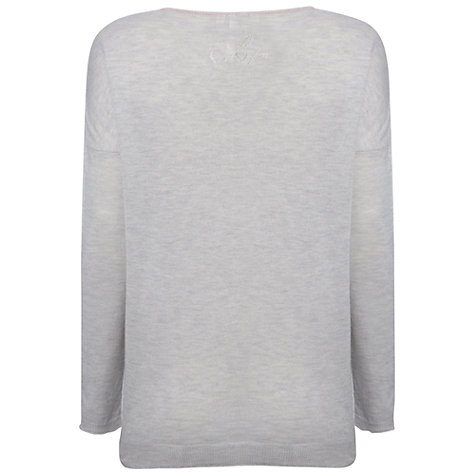 Buy White Stuff Button Jumper, Lotus Marl Online at johnlewis.com