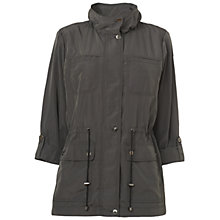 Buy Jaeger Rolled Sleeve Mac, Charcoal Online at johnlewis.com