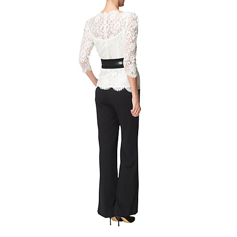 Buy Jaeger Scalloped Lace Blouse, Ivory Online at johnlewis.com