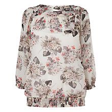 Buy Phase Eight Dominca Print Top, Neutral Online at johnlewis.com