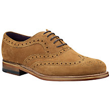 Buy Barker for John Lewis Aldgate Suede Brogue Oxford Shoes Online at johnlewis.com