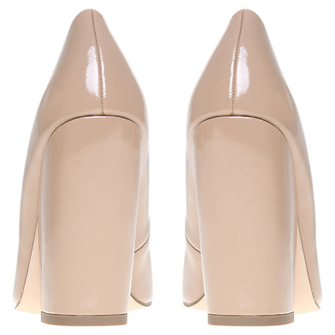 Buy KG by Kurt Geiger Allure Chunky Block Heel Court Shoes, Nude Online at johnlewis.com