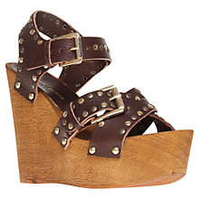 Buy KG by Kurt Geiger Nickle Wedged Sandals Online at johnlewis.com