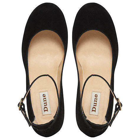 Buy Dune Agile Suede High Back Ankle Strap Court Shoes Online at johnlewis.com