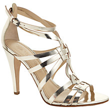 Buy Vera Wang Haru Metallic Leather Strappy Stiletto Sandals Online at johnlewis.com