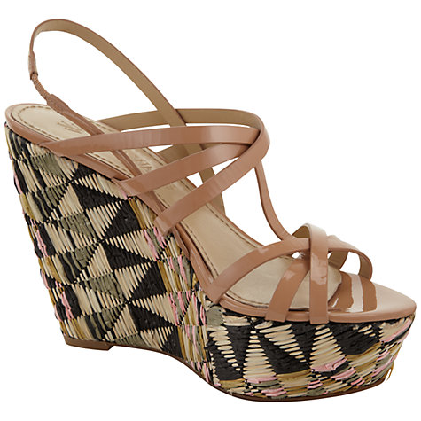 Buy Vera Wang Travie2 Straw Covered Wedge Platform Sandals Online at johnlewis.com