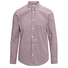 Buy Ben Sherman Classic Long Sleeve Check Shirt, Red/White/Blue Online at johnlewis.com