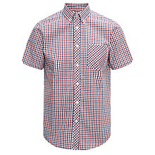 Buy Ben Sherman Classic Short Sleeve Check Shirt, Red/White/Blue Online at johnlewis.com
