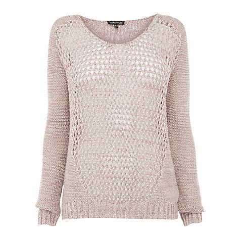 Buy Warehouse Mesh Front Jumper, Multi Online at johnlewis.com