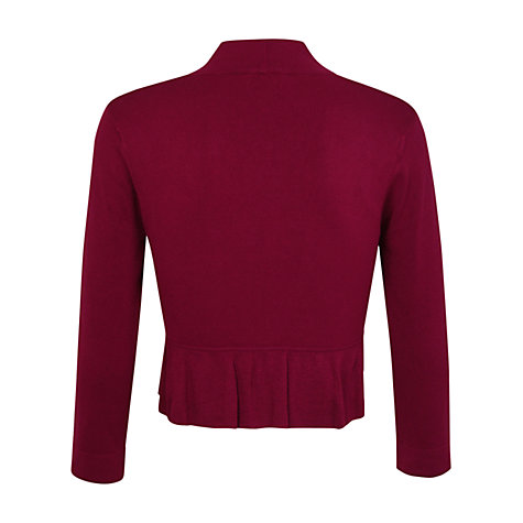 Buy Kaliko Fluted Back Bolero, Dark Pink Online at johnlewis.com