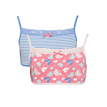 Buy John Lewis Girl Crop Tops, Pack of 2, Pink/Blue Online at johnlewis.com