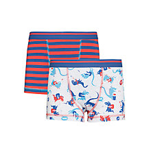 Buy John Lewis Boy Dinosaur Trunks, Pack of 2, Red/Blue Online at johnlewis.com