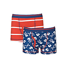 Buy John Lewis Boy Skulls Trunks, Pack of 2, Red/Blue Online at johnlewis.com