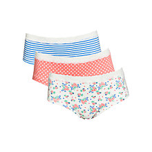 Buy John Lewis Girl Floral Lace Briefs, Pack of 3, Multi Online at johnlewis.com