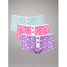 Buy John Lewis Girl Star Boxer Style Briefs, Pack of 3, Multi Online at johnlewis.com