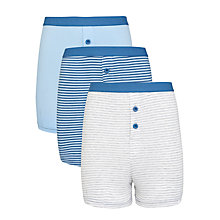 Buy John Lewis Boy Striped Boxers, Pack of 3, Blue Online at johnlewis.com