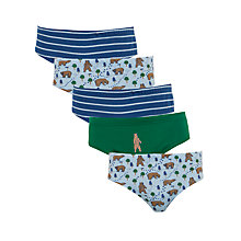 Buy John Lewis Boy Bear Briefs, Pack of 5, Multi Online at johnlewis.com