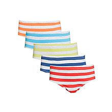 Buy John Lewis Boys Striped Briefs, Pack of 5, Multi Online at johnlewis.com