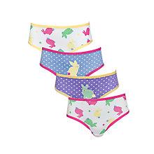 Buy John Lewis Girl Bunny Briefs, Pack of 5, Multi Online at johnlewis.com